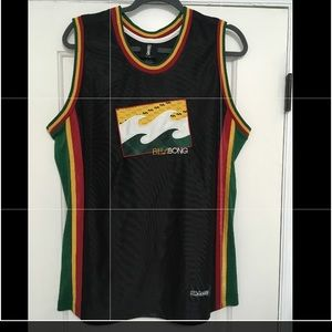 Vintage BILLABONG Hawaii Rasta Reggae Black Jersey